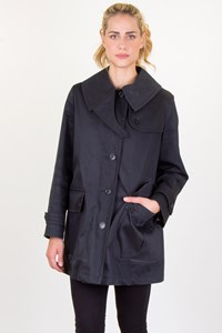 Burberry London Black Cotton Jacket with Removable Vest